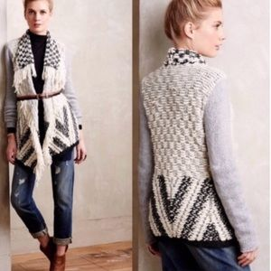 Anthropologie Moth Amba Fringed Cardigan